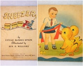 Sneezer and Tuffy and Fluffy - Vintage 40s Childrens Books - Ephemera