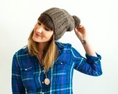 The Sparrow + Slouchy Pom Knit Hat + Made to Order