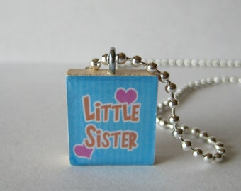 Little Sister Scrabble Tile Necklace