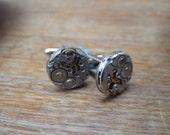 Steampunk Cufflinks - little round