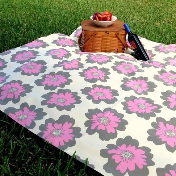Organic Cotton Picnic Blanket Outdoor Throw Eco Friendly