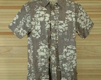 Vintage Hawaiian Reverse Print Shirt Size L ch 48