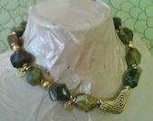 ON SALE ADANA chunky gemstone statement necklace