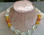 MIREILLE pineapple quartz statement necklace
