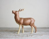 Antique Celluloid Reindeer, Vintage Woodland Holiday Decor