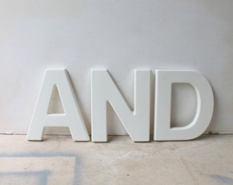 Hard Plastic Vintage A, Outdoor Signage, Industrial Mid Century, 12 Inches High