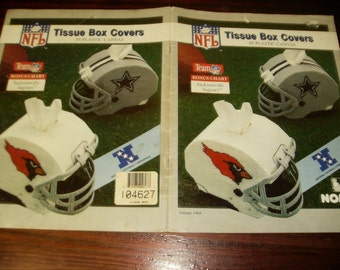 Sports Plastic Canvas NFL Tissue Box Covers Nomis Volume 1404 Plastic Canvas Pattern Leaflet Helmets