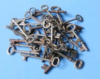 Antique Skeleton Key Keys Ornate Keys Skeleton Keys Industrial Key Keys Steampunk Keys DIY Jewelry Keys
