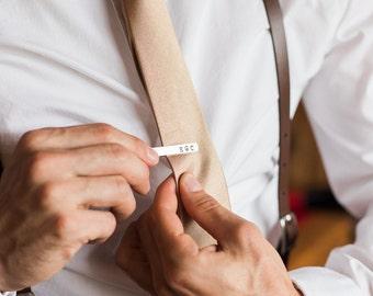 Groomsmen Gift  -Personalized Tie Bars -  Men's Skinny Tie Bar - Monogramed Tie Clip - Aluminum Tie Bar -