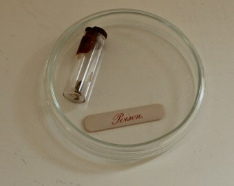 Vintage Glass Petri Dish with Lid