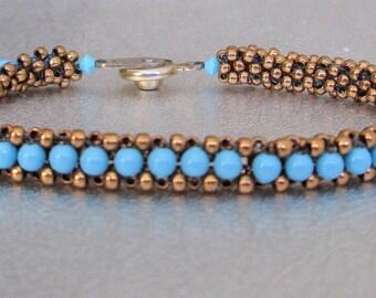 beadwork bracelet turquoise