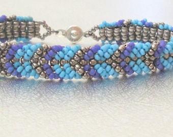 beadwork friendship bracelet turquoise bead bracelet teal beaded jewelry