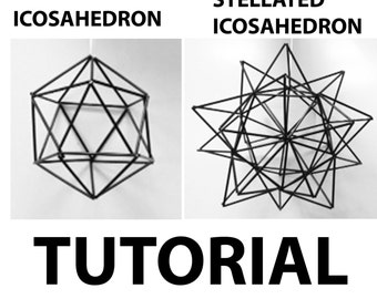 Icosahedron and Stelated Icosahedron Geometric Model Construction Tutorial