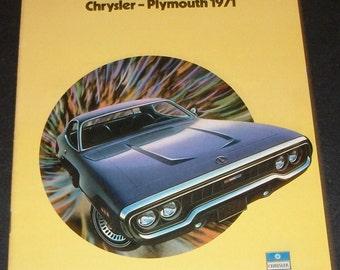 1971 Chrysler - Plymouth  Sales Brochure