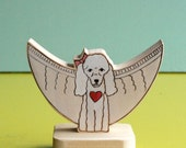 Custom Pet Memorial Angel Portrait with Square Stand
