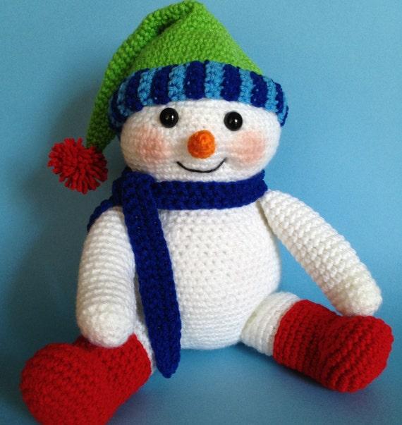 PDF CROCHET PATTERN for Reading Snowman from bvoe668 on ...
