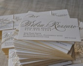 100 Calligraphy Letterpress Cards w/ Gold Edge-Paint