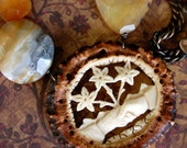 Forever Friends-Antique Victorian Carved Bone Friendship Brooch Assemblage Necklace