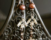A Sparkling Spring-Antique Vintage Rhinestone Finding Assemblage Earrings
