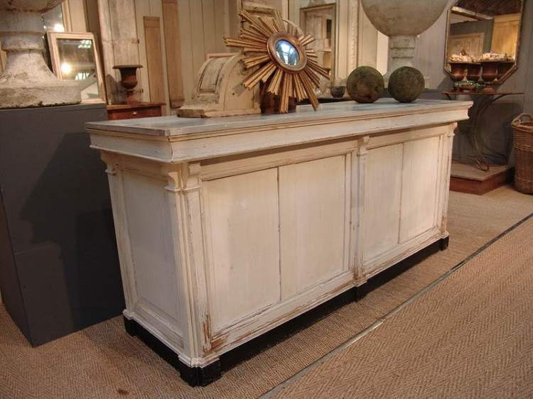 French Antique Repro Check Out Counter Reception Desk Cash