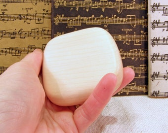 Music Rattle, Maple Wood, desk toy, stress toy, relaxation gift, eco friendly gift, music lover gift, teacher aid, music shaker, drum circle