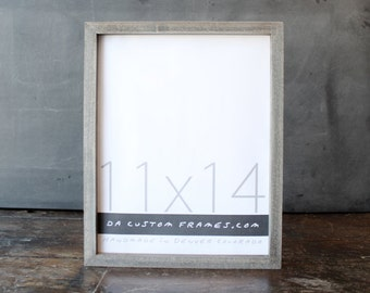 11x14 picture frame with driftwood gray finish part of drift collection 11x14 handmade picture frame