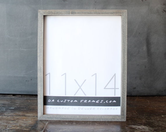 11x14 picture frame with driftwood gray finish part of drift