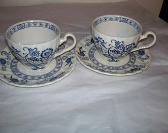 Blue Nordic cup and saucer