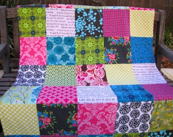 40x56 Anna Maria Horner Storybook Dowry Throw Nursery Minky Blanket Ready to ship