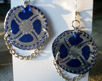 GEAR recycled can earrings
