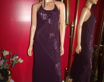 Vintage Dress Flapper Exclusive  sequins Glass Embroidery   Size 4