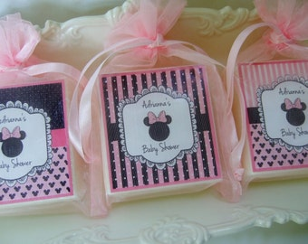 Baby Shower Favors, Minnie Mouse Favors, Birthday Favors, soap favors set of 12