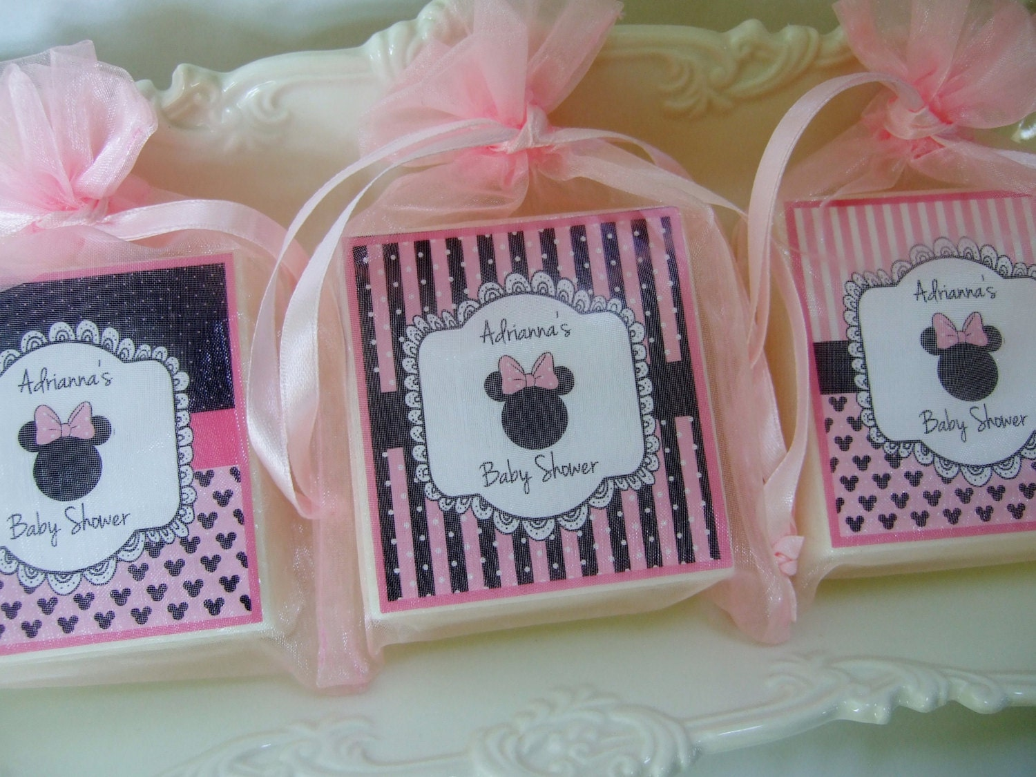 baby shower favors minnie mouse favors birthday favors soap