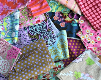 Designer Fabric Scraps 100% Quilters Cotton