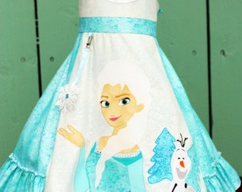 Disney Frozen Girls Dress sizes 2 3 4 5 6 7 8 9