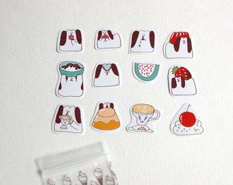Doggie and Dessert Small Sticker Set (12 stickers)
