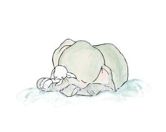 Children's Art -- Slumber -- Art Print