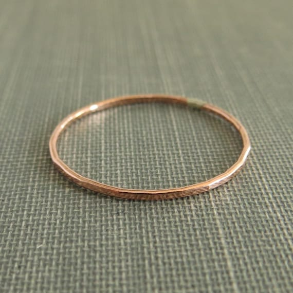 Thin Copper Stackable Ring - 1 Ring - Super Slim - Copper Ring - Simple Modern Minimal Ring