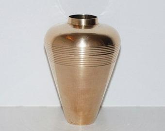 Vintage Modernist Brass Vase