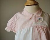 1960s Summer Flutter Blouse, size 12 months