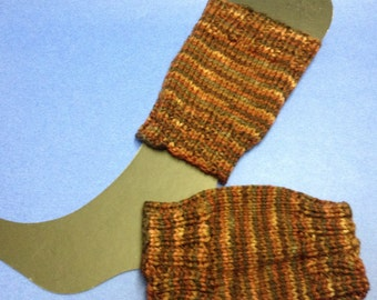 Brown Stripe Boot Topper/Boot Legwarmer/ Brown Boot Cuff/Boot Cuff/Legwarmer/Boot Sock/Mama Earth Boot Toppers