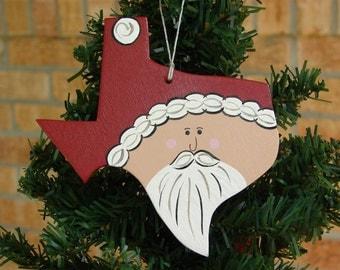Texas Santa Ornament