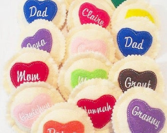 Personalized heart cookie - Choose your icing color - Personalized cookie - Pretend Play Cookies  #PF2511
