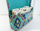 Coupon Organizer, Coupon Holder, Ready to Ship, Coupon Wallet, Receipt Holder, Coupon Binder, Plum and Turquoise Damask