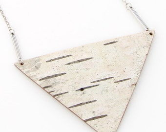 Birch bark necklace, Tri