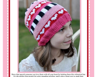 All My Love Hat - Knitting Pattern PDF