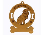 1016 Affenpinscher Sitting  Personalized Wood Ornament