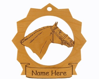 Lippizan Horse Wood Ornament 088175 Personalized With Your Horse's Name