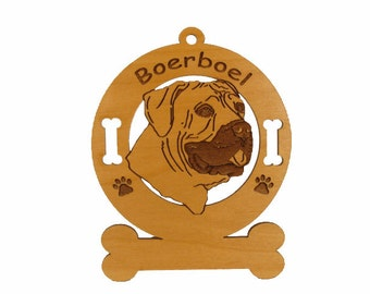 4009 Boerboel Head Personalized Dog Ornament
