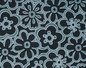 Fabric Traditions Black/Silver Cotton Fabric 1 yard cut